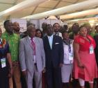 Present at the exhibition were the three Ministers of Agriculture, Front Row 2nd from Left Mr Coulibally (Côte d'Ivoire),3rd from Left Mr Zokwane (South Africa) and 4th from Left Mr Akoto (Ghana)